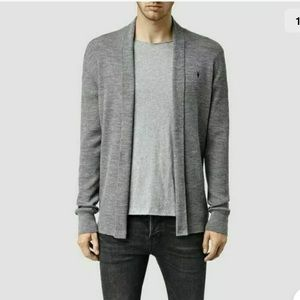 $120 ALLSAINTS Mode Wool Open Cardigan Sweater L